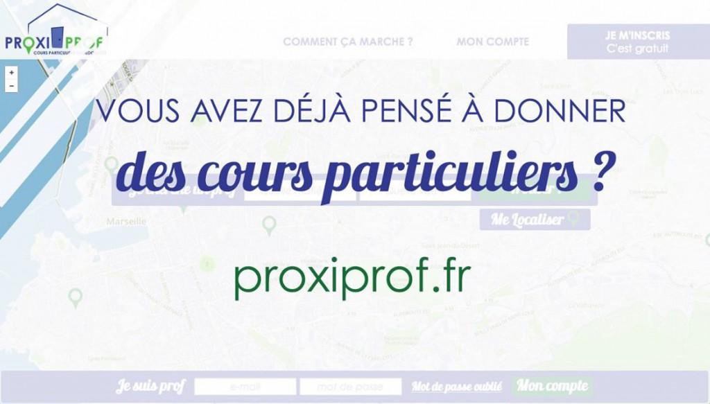 ProxiProf.fr, le cours particulier à la demande